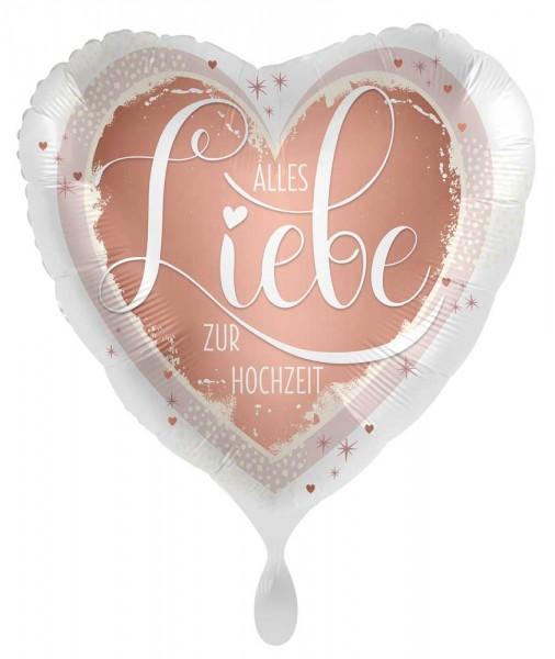 Herz Folienballon Hochzeitsgruß 71cm