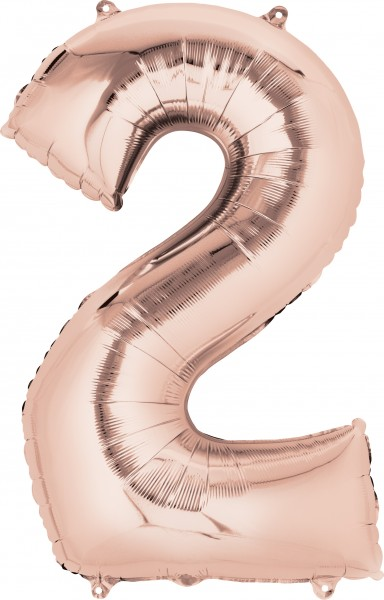 Number balloon 2 rose gold 88cm