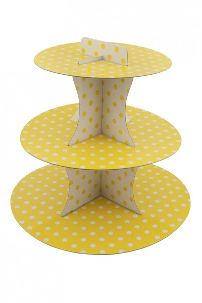 Points fun yellow cupcake stand 30cm