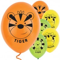 6 Safari Party Luftballons 28cm