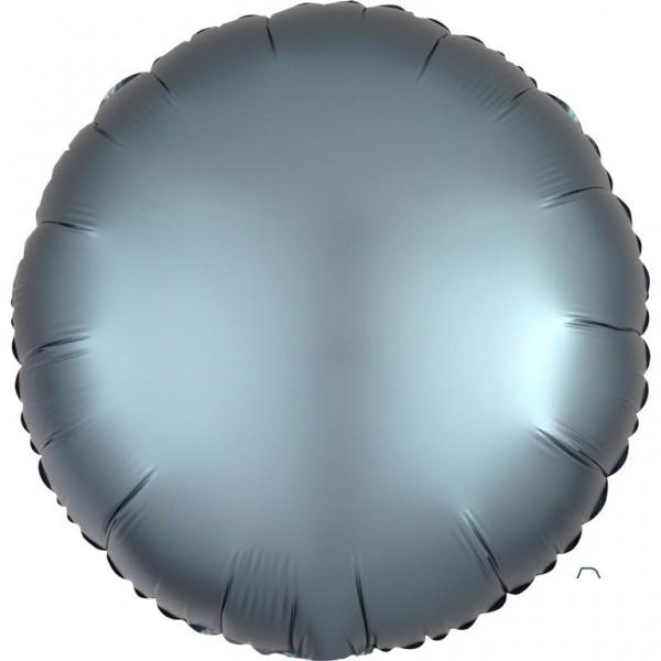 Shiny steel-blue Folienballon 43cm
