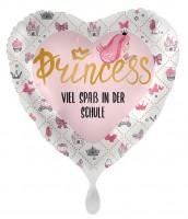 Schul-Prinzessin Herzballon 43cm