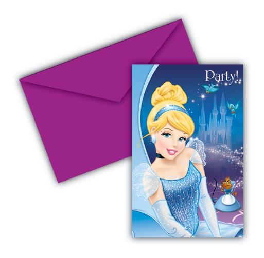 6 Cinderellas Märchennacht Einladungskarten 14 x 9cm