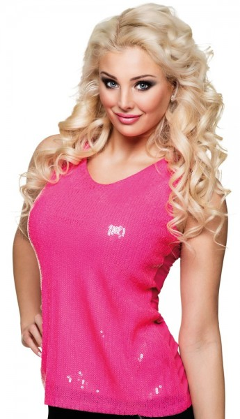 Pink party sequin top for women