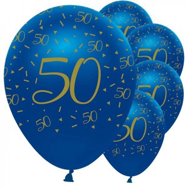 5 luxueux ballons 50e anniversaire 30cm