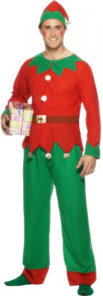 Disfraz de elfos ayudantes de Navidad para hombre
