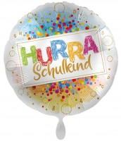 Hurra Schulkind Konfetti Folienballon 45cm