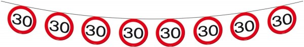Traffic sign 30 pennant chain 12m
