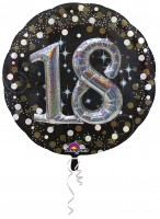 Golden 18th Birthday Folienballon 81cm