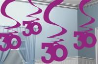30th Celebration Wirbel Hängedekoration Pink 5x61cm