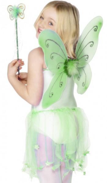 Grüne Fee Flügel Und Zauberstab