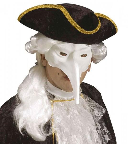 Bemalbare Biancolo Schnabelmaske In Weiß