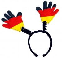 Deutschland Fan Haarreif mit Deutschlandhänden