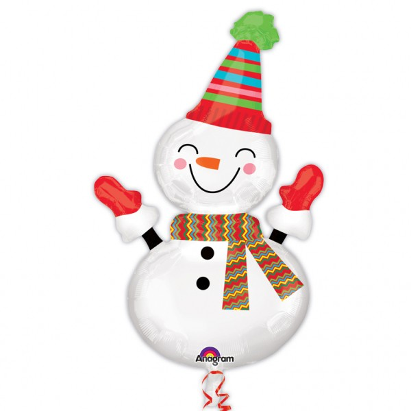 Foil balloon snowman Frosti 60 x 91cm