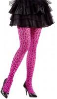 Pinke Leoparden Strumpfhose