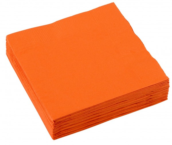 20 party napkins 25cm orange