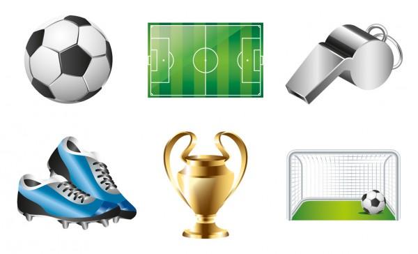 6-teiliges Fußball Tattoo Set