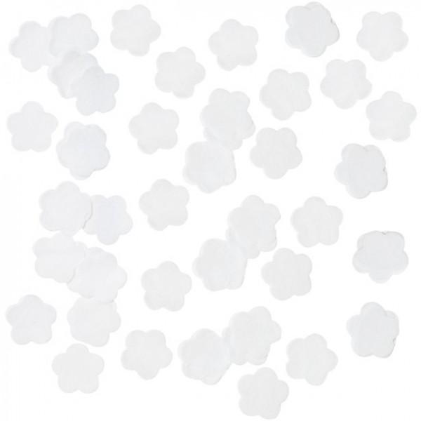 Tissue paper confetti white flowers