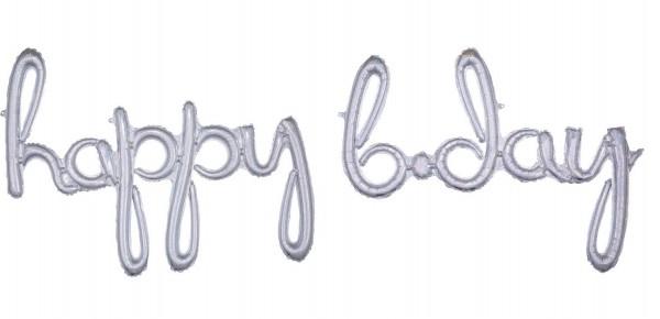 Holografischer Happy B-Day Ballon