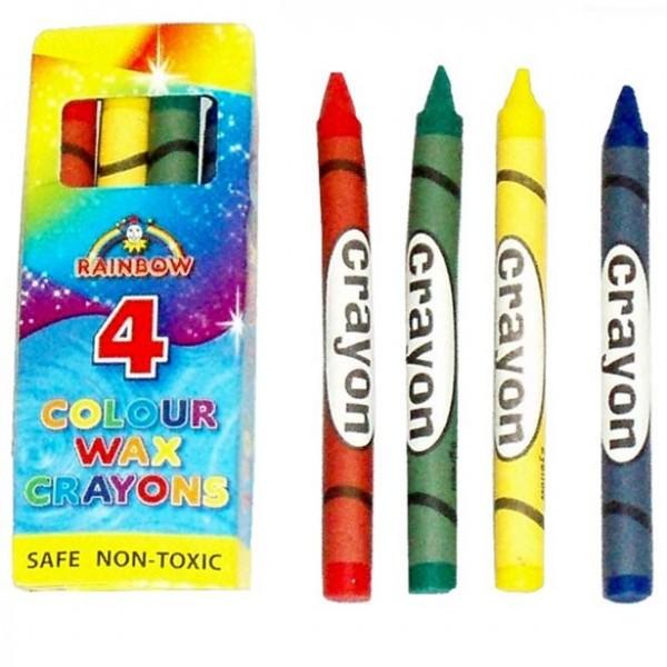 Farverige farveblyanter sæt med 4