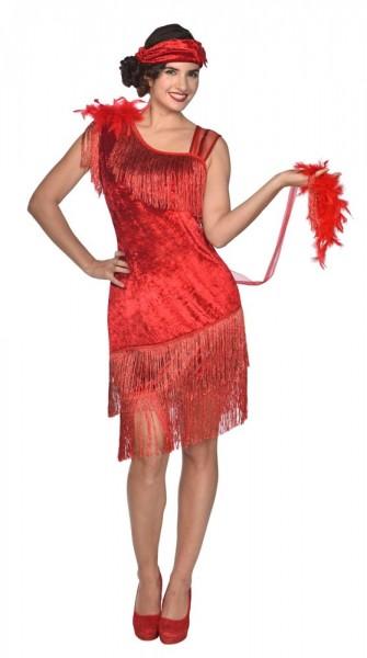Costume Charleston Flapper anni '20 rosso