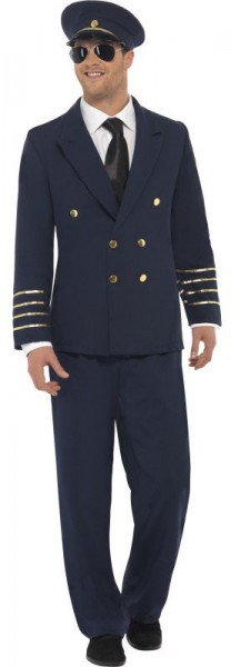 Pilotenkostüm Für Herren Classic Blau 1