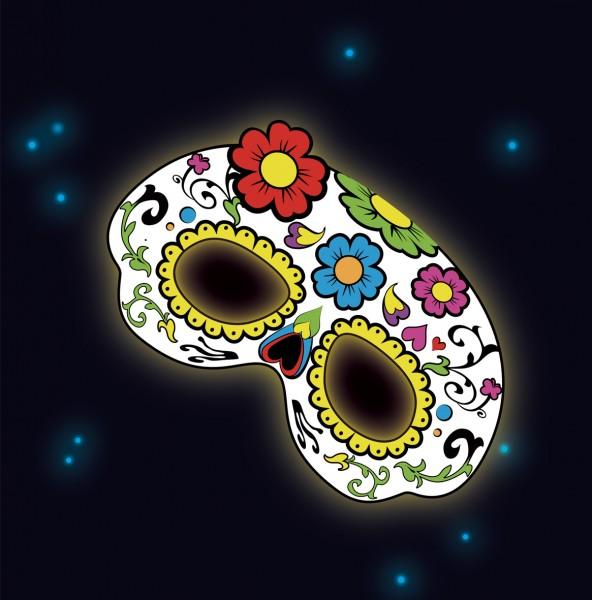 Masque de crâne brillant fantaisie