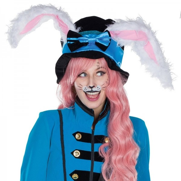 Blauer Zylinder Verrücktes Kaninchen