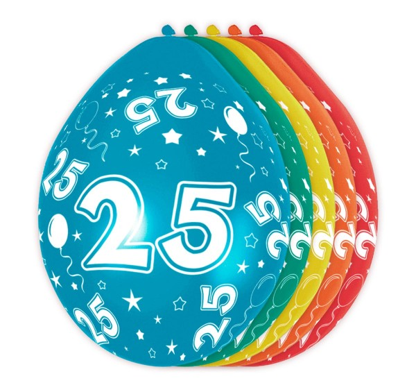 5 Ballons Big 25 30cm 1