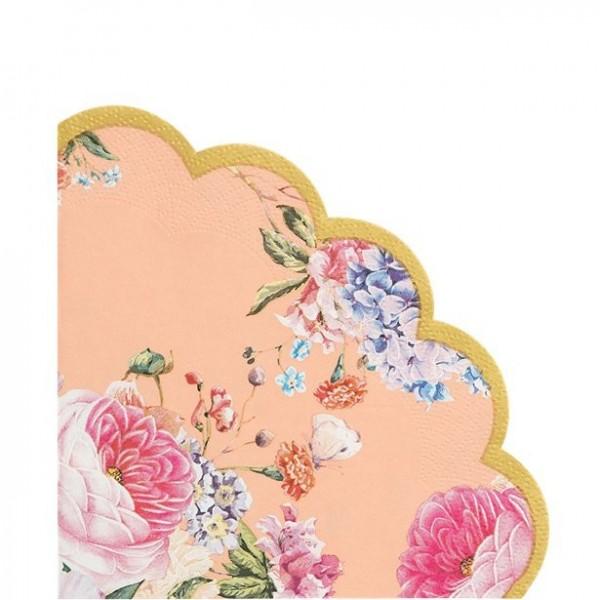 20 Vintage Romantic Flower Servietten 33cm