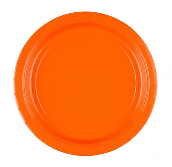 8 piatti di carta per feste Oranje 22,8cm