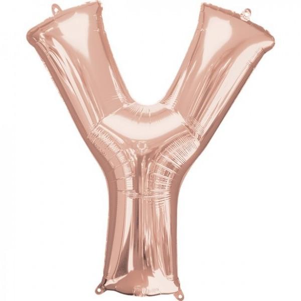 Foil balloon letter Y rose gold 41cm