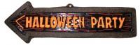Wegweiser Halloween Party Schild 57x19cm