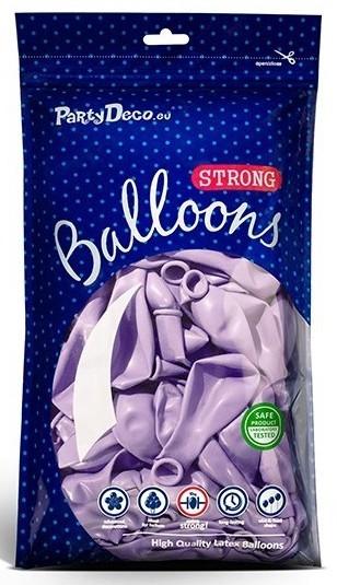 10 Partystar metallic Ballons lavendel 30cm