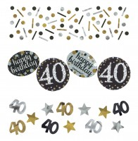 Golden 40th Birthday Streudeko 34g