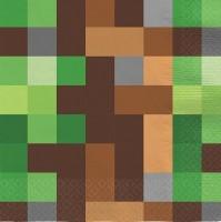 16 TNT Pixel Party Servietten 33cm