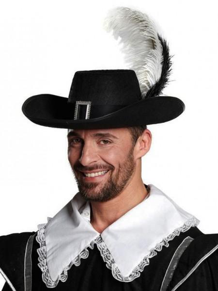Stilvoller Musketier Hut Schwarz