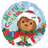 Ballon aluminium ours de Noël 43cm