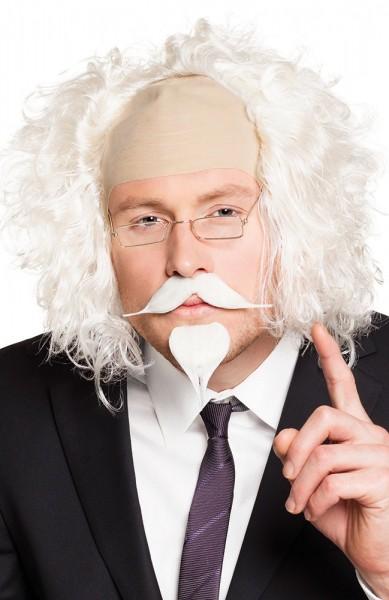Weißer Kinn Und Schnurr Bart