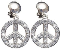 Peace Hippie Glitzer Ohrringe