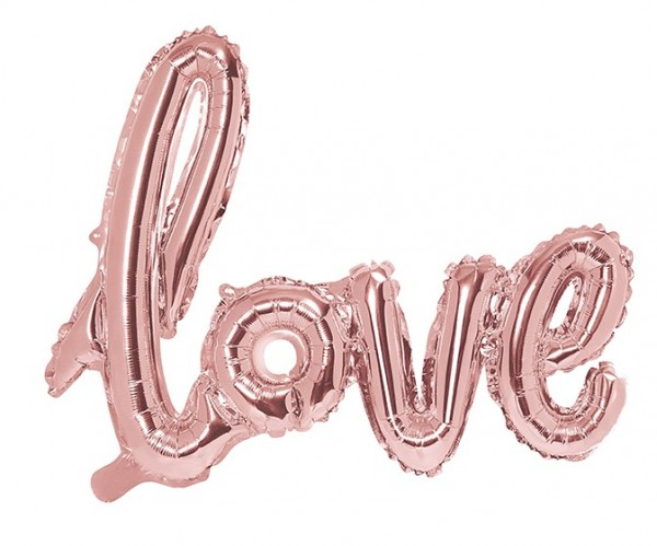 Love Lettering Foil Balloon Rose Gold 73cm x 59cm