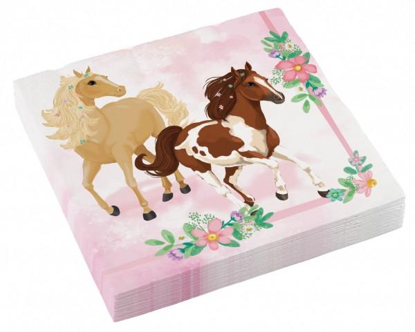 20 Pferde Servietten Fleur 33cm