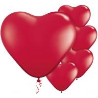 100 Rote Herzballons Seduction 28cm