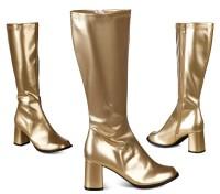 70er Goldene Lackstiefel