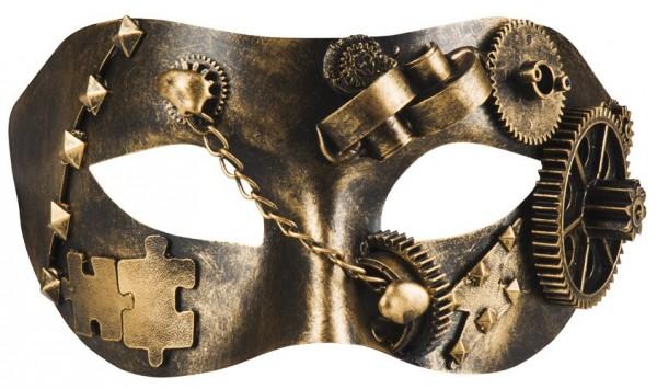 Kupfergoldene Steampunk Augenmaske