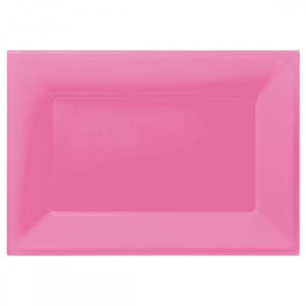 3 serving plates Mila pink 33 x 23cm