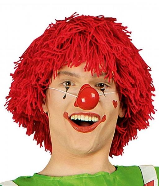 Perruque de clown rouge Simon