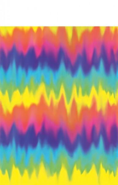 60er Jahre Papier Tischdecke Rainbow 137x260cm