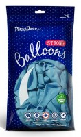 100 Partystar Luftballons pastellblau 23cm