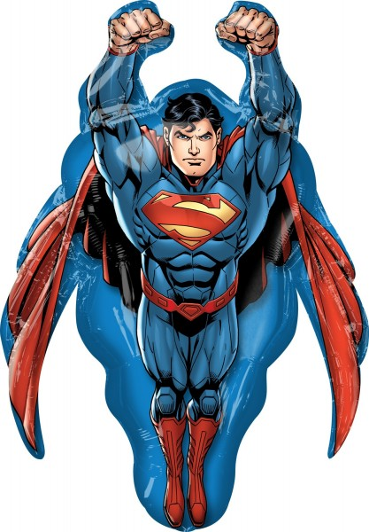 Foil balloon Flying Superman figure XL